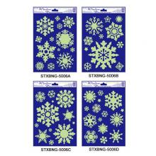 Christmas Foam & Glitter, Glow In The Dark Window Decorations Series