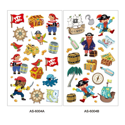 AS-6001~6004 Art Paper Sticker Series