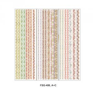 FSG-406A~C, 424A~C, 410A~C Glitter & Satin Ribbon Sticker Series