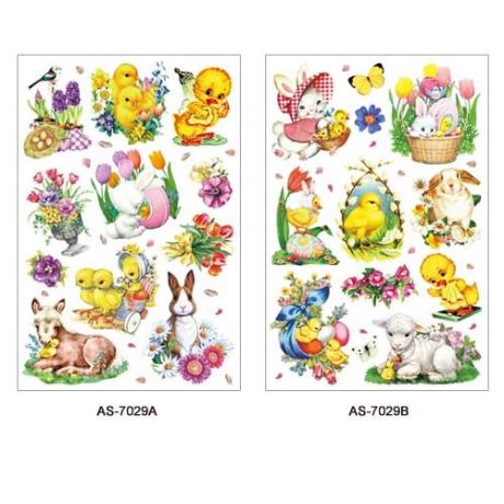 AS-7029AB, 7030AB, 7031AB (Easter) Art Paper Sticker Series